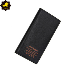 New Wallet Long Men Wallets PU Leather Male Purse Card Holder Wallet Fashion  QB-3 black one size