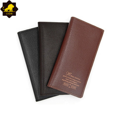New Wallet Long Men Wallets PU Leather Male Purse Card Holder Wallet Fashion  QB-3 light brown one size
