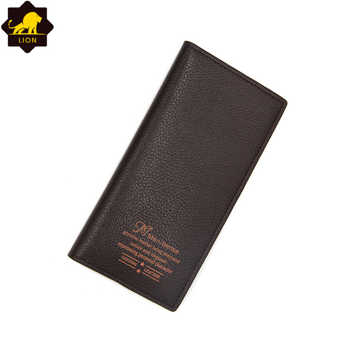 New Wallet Long Men Wallets PU Leather Male Purse Card Holder Wallet Fashion  QB-3 Dark brown one size