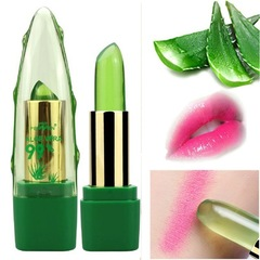 Aloe Vera Natural Moisturizer Lipstick Temperature Changed Color Lipbalm Natural Magic Pink as shown