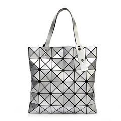 Handbag Female Folded Ladies Geometric Plaid Bag Fashion Casual Tote Women Handbag Mochila as shown 1