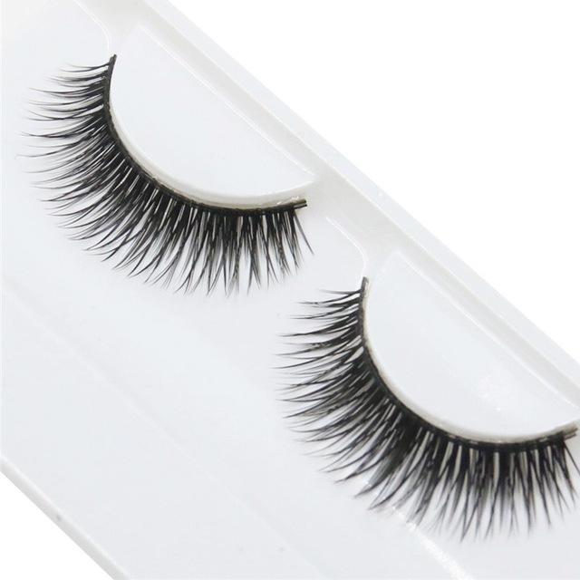 Handmade False Eyelashes Beauty Natural Dense Soft Long Cross Lashes Fake Eyelashes  Everyday Use as shown