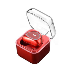New Bluetooth Headset with charging compartment in-ear sports Bluetooth headset red one size