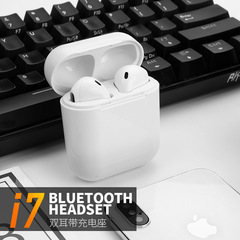 i7 Wireless Bluetooth 4.1 In-Ear Earphone Stereo Music Sport Headphone with Mic white one size