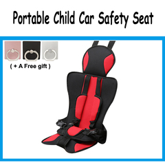 Portable car safety seat Simple Convertible Car Seat Child Gift Car Seat Cushion Protector Red color one size