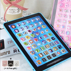 Kids Toy Electronic Early Educational Learning Children Tablet Computer blue 14.5*2*18.5cm