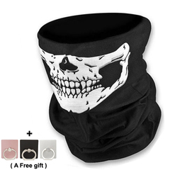 Skull print Multi-Purpose Scarf/Bandana/Mask Ghost Festival, COSPLAY, Party, ball dress men gift black