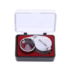 30 Times Magnifying Glass 30X21MM Metal Folding Precision Glasses Jewelry Antique Identification Watch Repair Tools