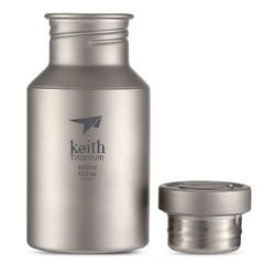 Keith Outdoor Ultra-light 400ML Pure Titanium Water Bottle
