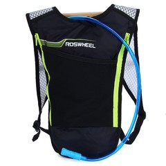 ROSWHEEL 5L Bike Hydration Backpack with 2L Water Bag for Camping Cycling Hiking