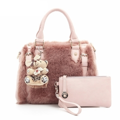 Handbags Bags Designer Women's Handbags Shoulder Bag HandBag New Boston Casual pink one size