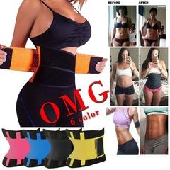 Unisex Power Slimming Belt Body Shaper Waist Trainer Trimmer Sport Gym Sweating Fat Burning Slimming Black XL