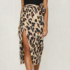 Sexy woman skirt hot fashion woman leopard print high waist skirt brown S