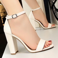 New women wear sexy women's shoes women's sandals women's wedding shoes white 35