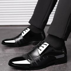 Plus-size men's business dress shoes fashion 100 tower wedding shoes black 38