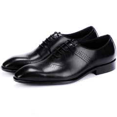 New men's shoes are high and regular leather polishing business leather shoes black 38