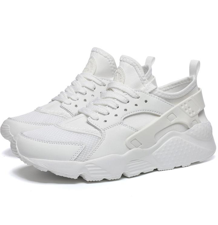 Summer plus-size men's shoes - classic white mesh light running men's shoes white 36