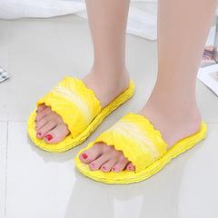 2019 new female leisure slippers slipper slip-proof cartoon creative cabbage one word slippers yellow 36/37 yards