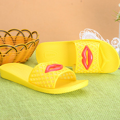 New lip slipper for non-slip summer home slippers in the bathroom yellow 36
