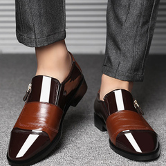 2019 new large-size business dress shoes for men brown 44