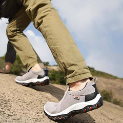 2019 slip-resistant hiking shoes outdoor men's shoes waterproof breathable hiking shoes gray 44