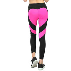 New buttocks love stitching yoga leggings buttock lift high waist leggings for women Red and black 3xl