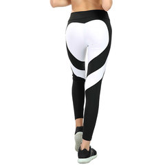 New buttocks love stitching yoga leggings buttock lift high waist leggings for women White and black S