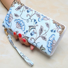 Ladies purse long zipper bag large capacity mobile phone bag simple 100 - piece clutch bag Light grey all code