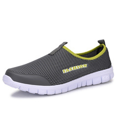 Summer men's and women's sports net shoes net top breathable casual bipedal running shoes Dark grey 34