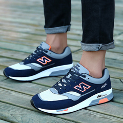 New comfortable men's shoes students net surface running shoes men's casual sports shoes 1500 net surface deep blue 45