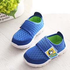 2019 new children's sports shoes for boys running mesh shoes for girls' leisure shoes blue 19 yards - 12.7 cm in length