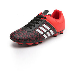 New artificial turf stubble wear - resistant football shoes adult men's professional training Red and black 31