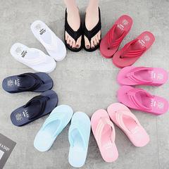 Thick belt, thick bottom, non-slip flip-flops for women, go with 6.5cm high heels white 35