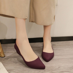 Spring 2019 new vintage platform shoes with thick soles and sloping heels purple 40