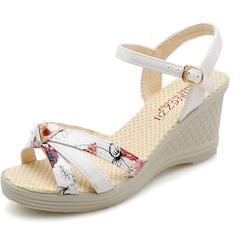 2019 summer new Korean version spell color leisure high heel single slippers white 35