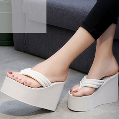 Women's high heel sandals with sandals with thick rubber soles white 35