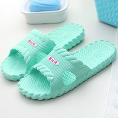 Slippers home summer couples home home in a twist of the bathroom anti - slip slippers green 36