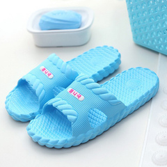 Slippers home summer couples home home in a twist of the bathroom anti - slip slippers sky blue 40