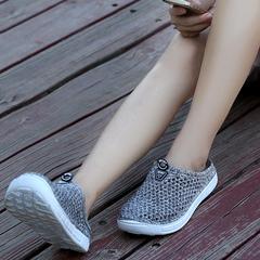 Pair of crocs the bird's nest new style summer half slipper baotou foot women's beach shoes gray 36
