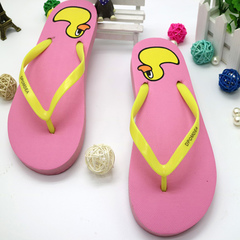 New lovers' flip-flops women's fashion home slippers summer clip-on slip-resistant beach sandals pink 35-36