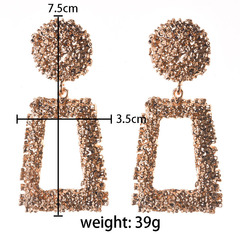 European and American fashionable geometric style alloy earrings accessories golden 1 a