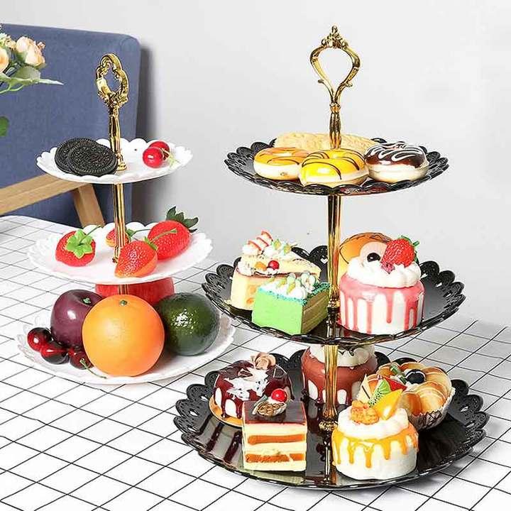 European style fruit tray cake shelf sitting room fruit tray wedding cake tray cake rack Graph coloring Small cake tray