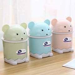 Panda flip desktop trash bin family living room environmental protection reinforced paper basket pink 1 a