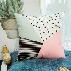 Geometric pink simple fashion pillow modern letter cushion small fresh pillow cover sofa cushion The geometry of 06 45*45cm