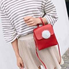 The new mini handbag is cute and versatile. It is a one-shoulder fur ball handbag brown All code