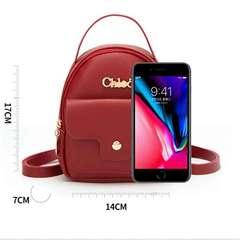New Korean fashion PU lady bag single-shoulder cross-body bag mobile phone bag backpack brown All code