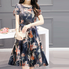 Mom summer 2019 new dress for middle-aged and elderly women Graph coloring M