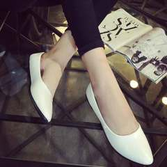 New casual evening market beanie shoes for women's work shoes spring/summer/autumn 2019 white 42