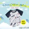 Boys T-shirt Summer Baby Clothes Animal Pattern Short Sleeve Cotton Tops Kids Children's Clothing White 90cm