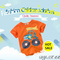 Kids Infant Boys Short Sleeve T-shirt Baby Cartoon Printed Car Orange Tees Child Fashion Outfits orange 130cm